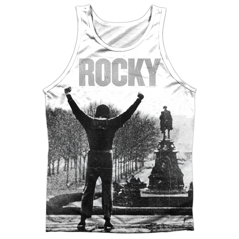 Rocky Poster White Sublimation Tank Top