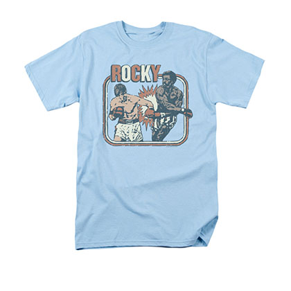 Rocky Big Fight Blue Tee Shirt