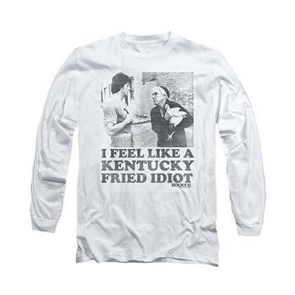 Rocky Kentucky Fried Idiot White Long Sleeve T-Shirt