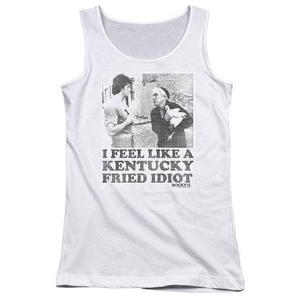 Rocky Kentucky Fried Idiot White Juniors Tank Top