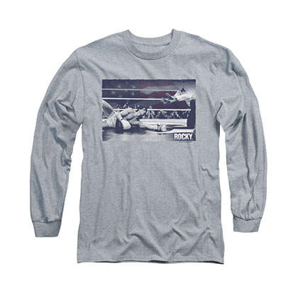 Rocky American Will Gray Long Sleeve T-Shirt