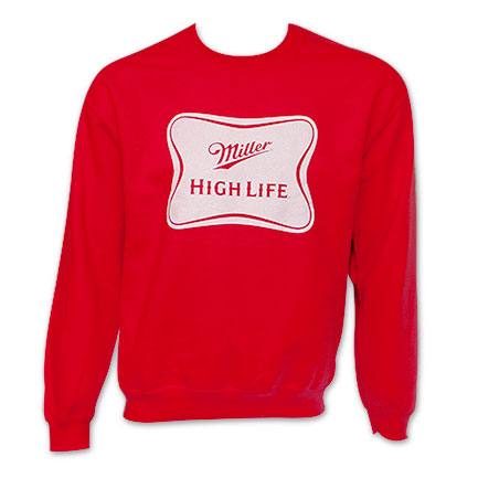 Miller High Life Men's Crew Neck Sweatshirt