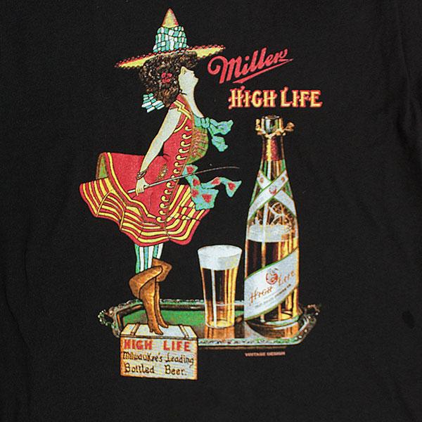 Miller High Life Men's Black Milwaukee Tee Shirt