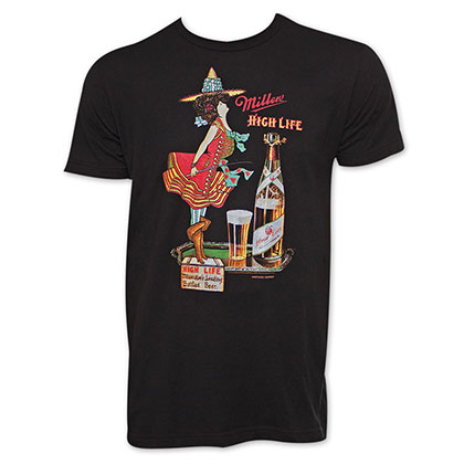 Miller High Life Men's Black Milwaukee Tee Shirt