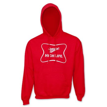 Miller High Life Men's Red Hoodie
