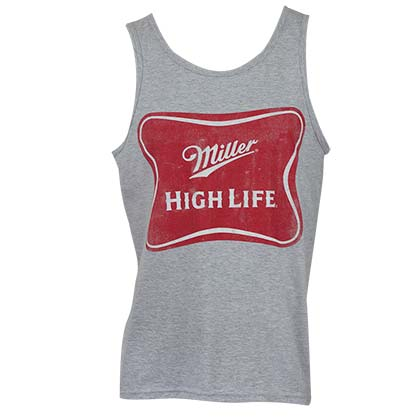 Miller High Life Beer Grey Tank Top
