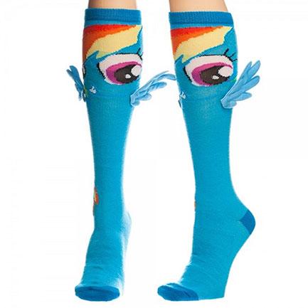 My Little Pony Women's Winged Blue Rainbow Dash Socks