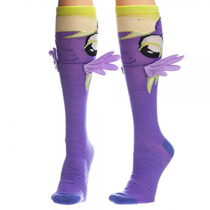 My Little Pony Derpy Purple Knee High Socks
