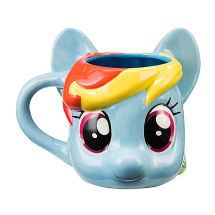 My Little Pony Blue Sculpted Rainbow Dash Coffee Mug