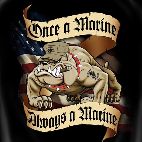 USMC Once A Marine Always A Marine Tee Shirt