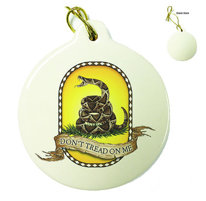 Don't Tread On Me Porcelain Ornament