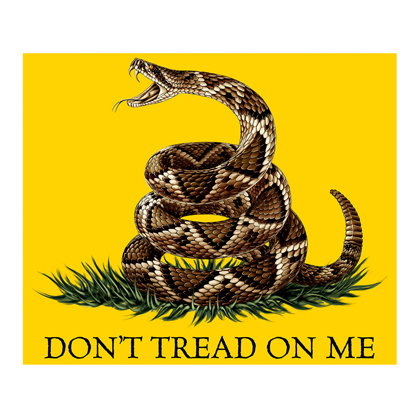 Don't Tread On Me 50x60 Fleece Blanket