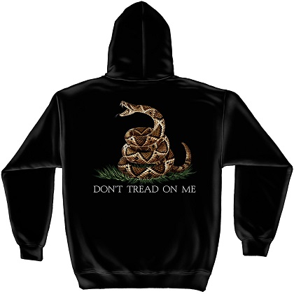 Patriotic Don't Tread On Me Black Hoodie