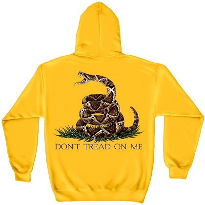 Patriotic Don't Tread On Me Yellow Hoodie