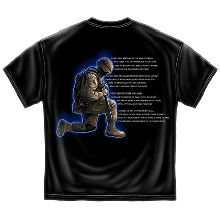 Men's Black US Army Soldier Prayer TShirt