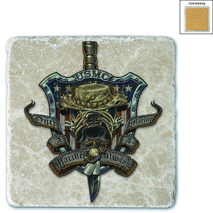 Once And Always Marine Stone Coaster