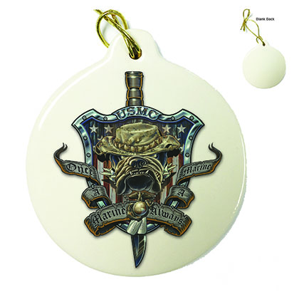 Once And Always a Marine Porcelain Ornament