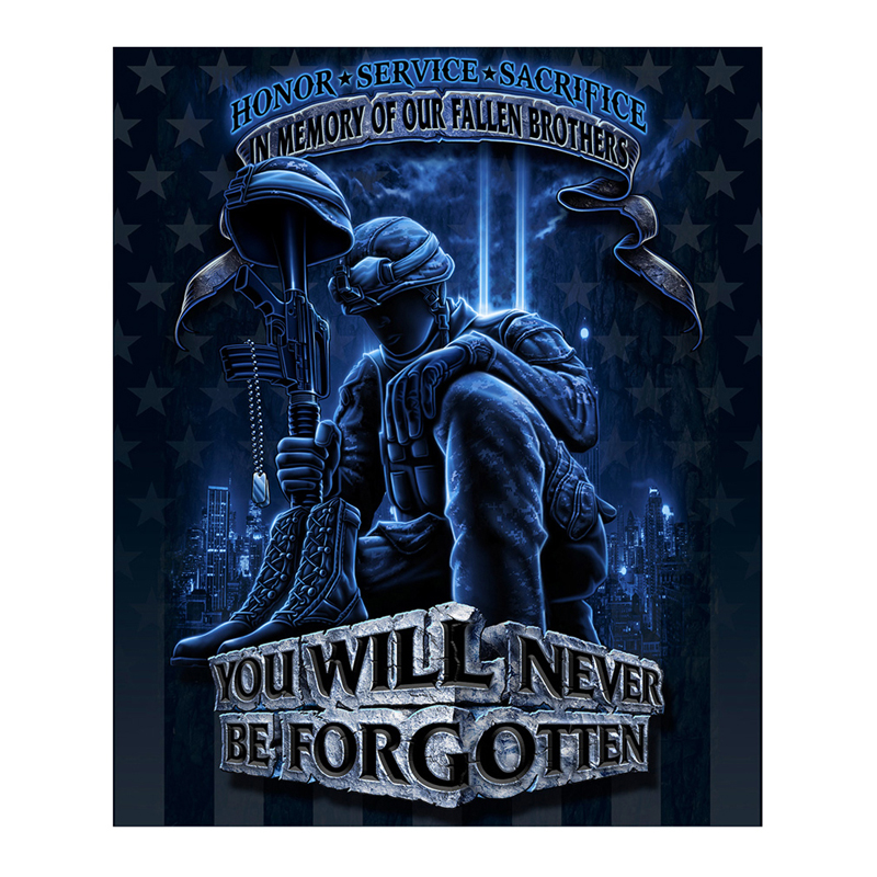 Never Forget 50x60 Fleece Blanket