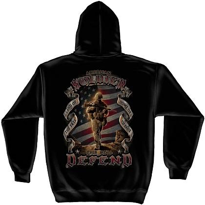 Patriotic American Solider Hoodie