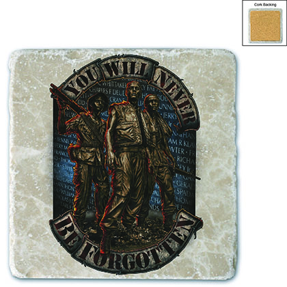 Vietnam Soldier Never Forget Stone Coaster
