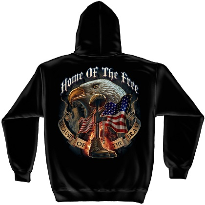 Patriotic Home of the Free Hoodie