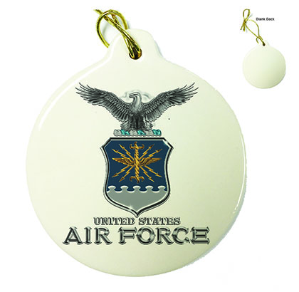 Air Force USAF Missile Porcelain Ornament