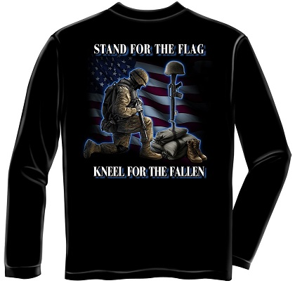 Stand For The Flag Kneel For The Fallen Long Sleeve Tshirt