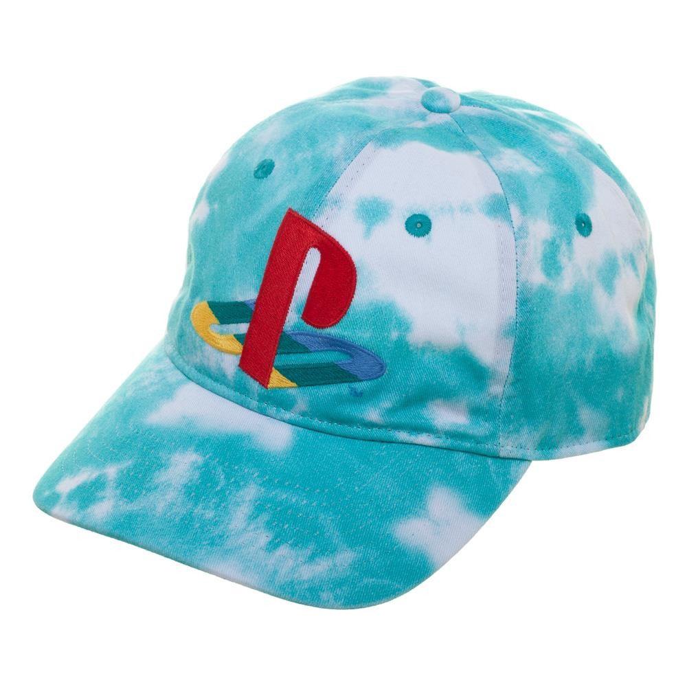 PlayStation Logo Adjustable Tie Dye Strapback Hat