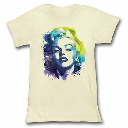 Marilyn Monroe Colorsplat Womens White T-Shirt