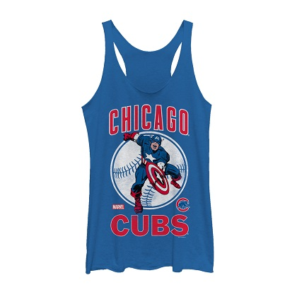 Captain America Chicago Cubs Women's Tank Top