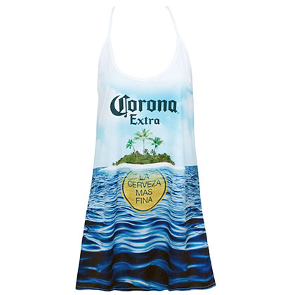 Corona Extra Women's Island White Tank Top