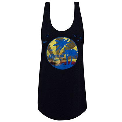 Corona Extra Women's Sunset Black Tank Top