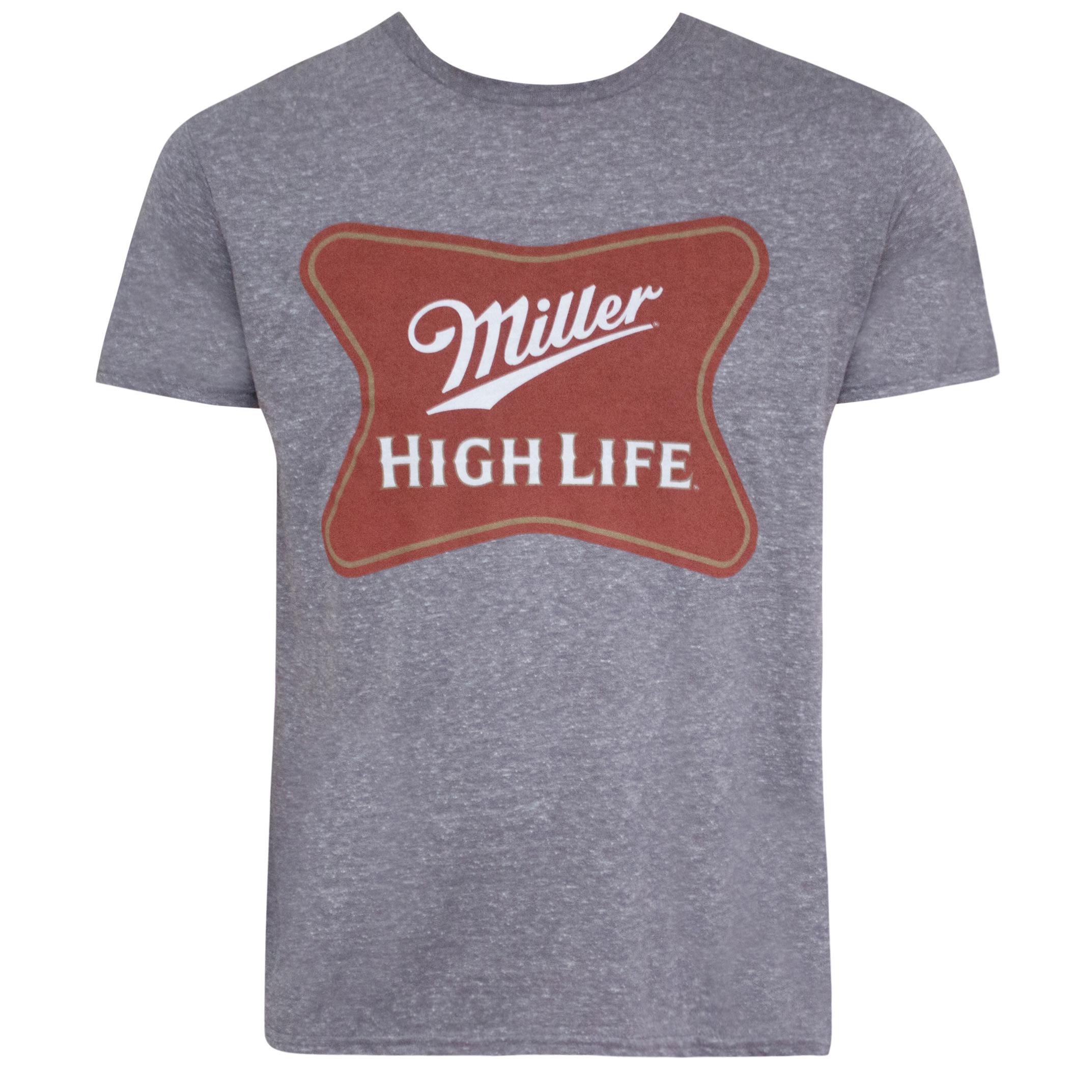Miller High Life Grey Classic Logo Tee Shirt