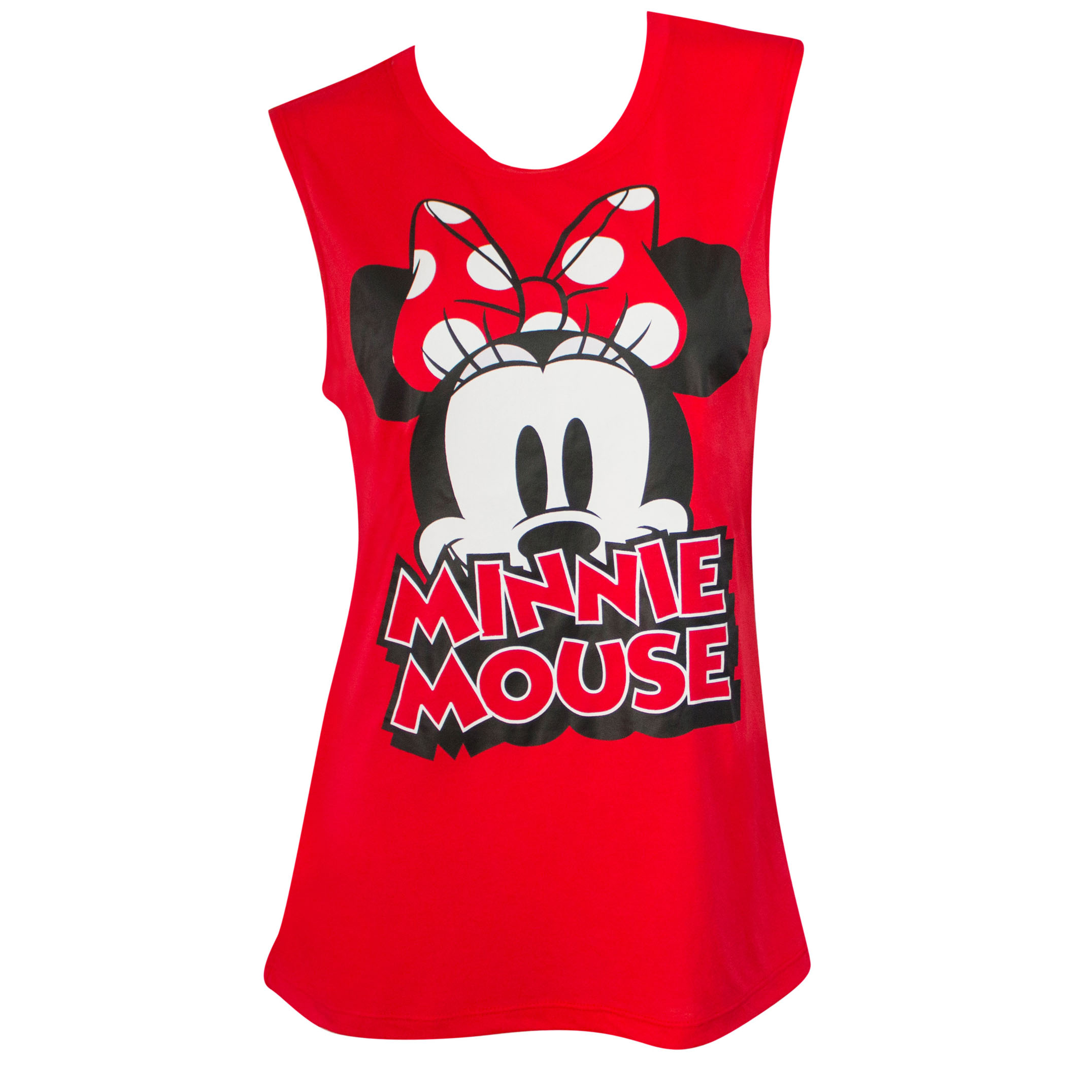 Minnie Mouse Red Bow Women's Fashion Tank Top