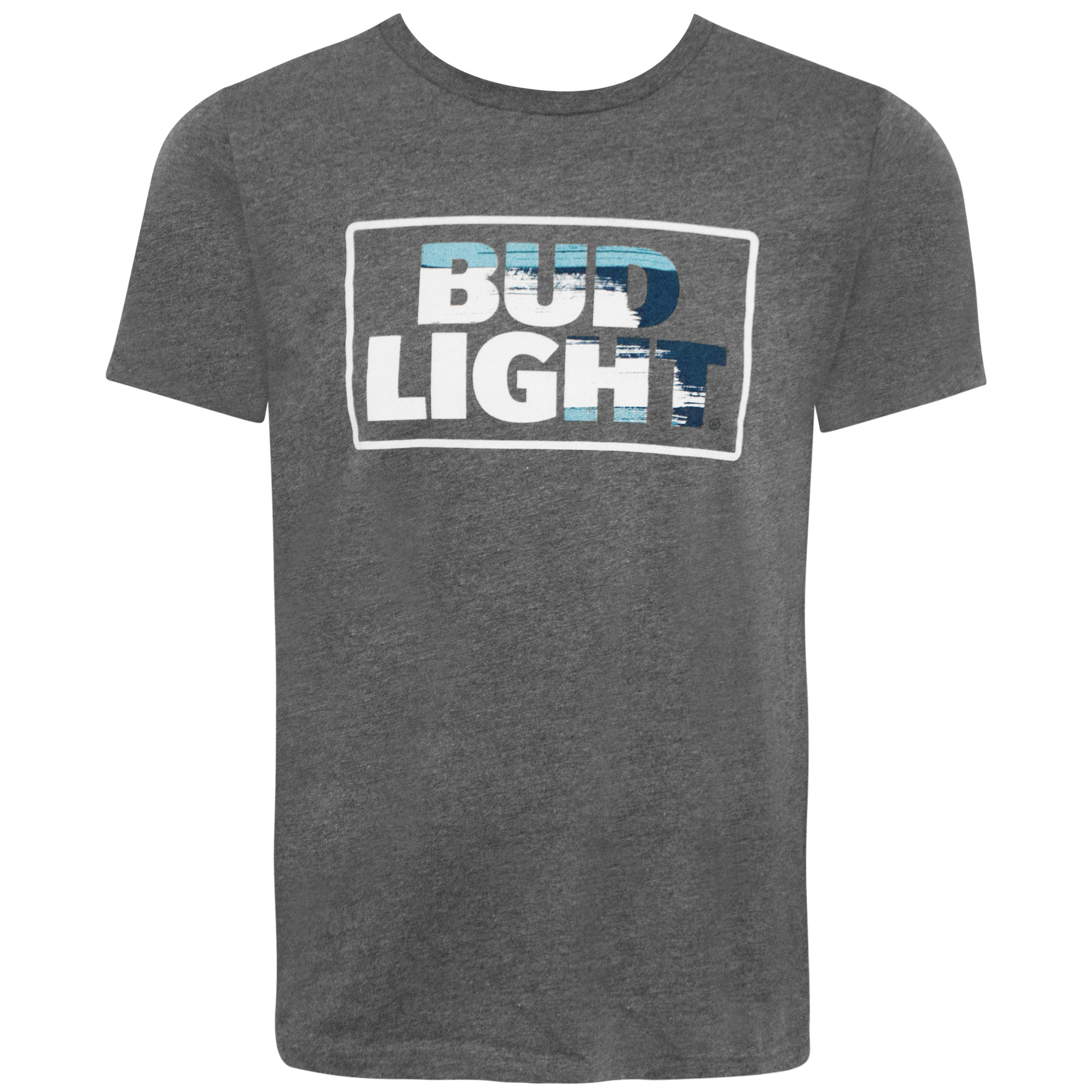 Bud Light Racing Logo Men's Grey Tee Shirt