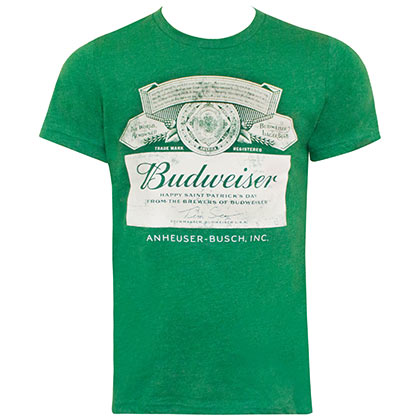 Budweiser Green Label St. Patricks Day T-Shirt