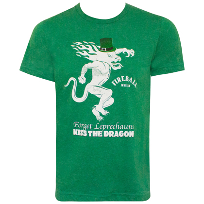 Fireball St. Patrick's Day Green Label Tee Shirt