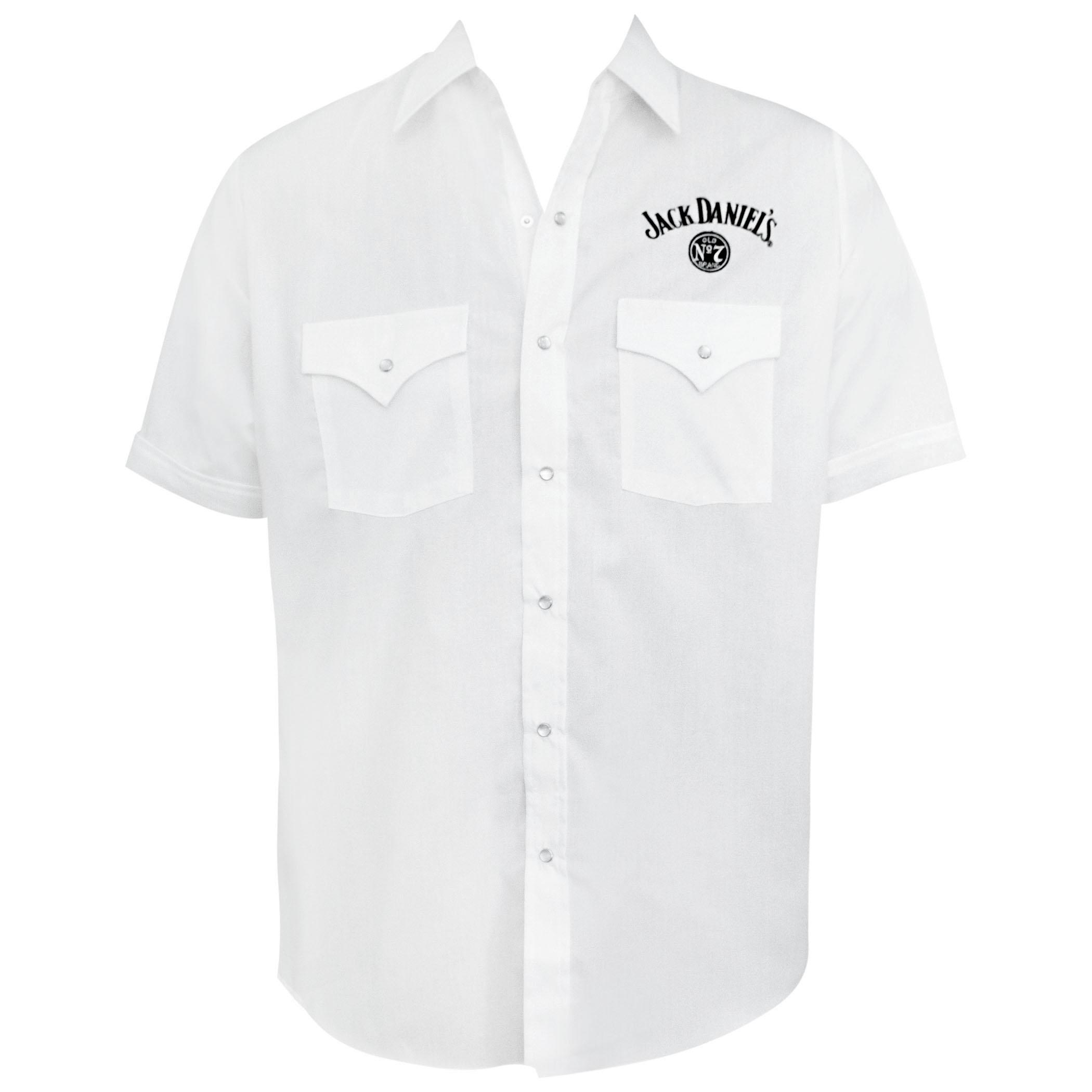 Jack Daniels White Short Sleeve Button Up