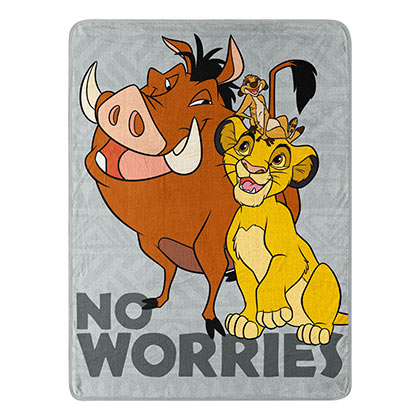 Lion King Timon And Pumbaa Fleece Blanket
