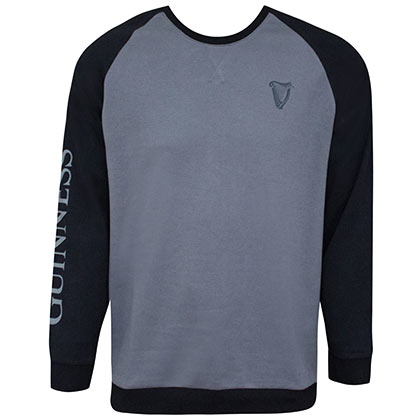 Guinness Black And Grey Long Sleeve Sweatshirt