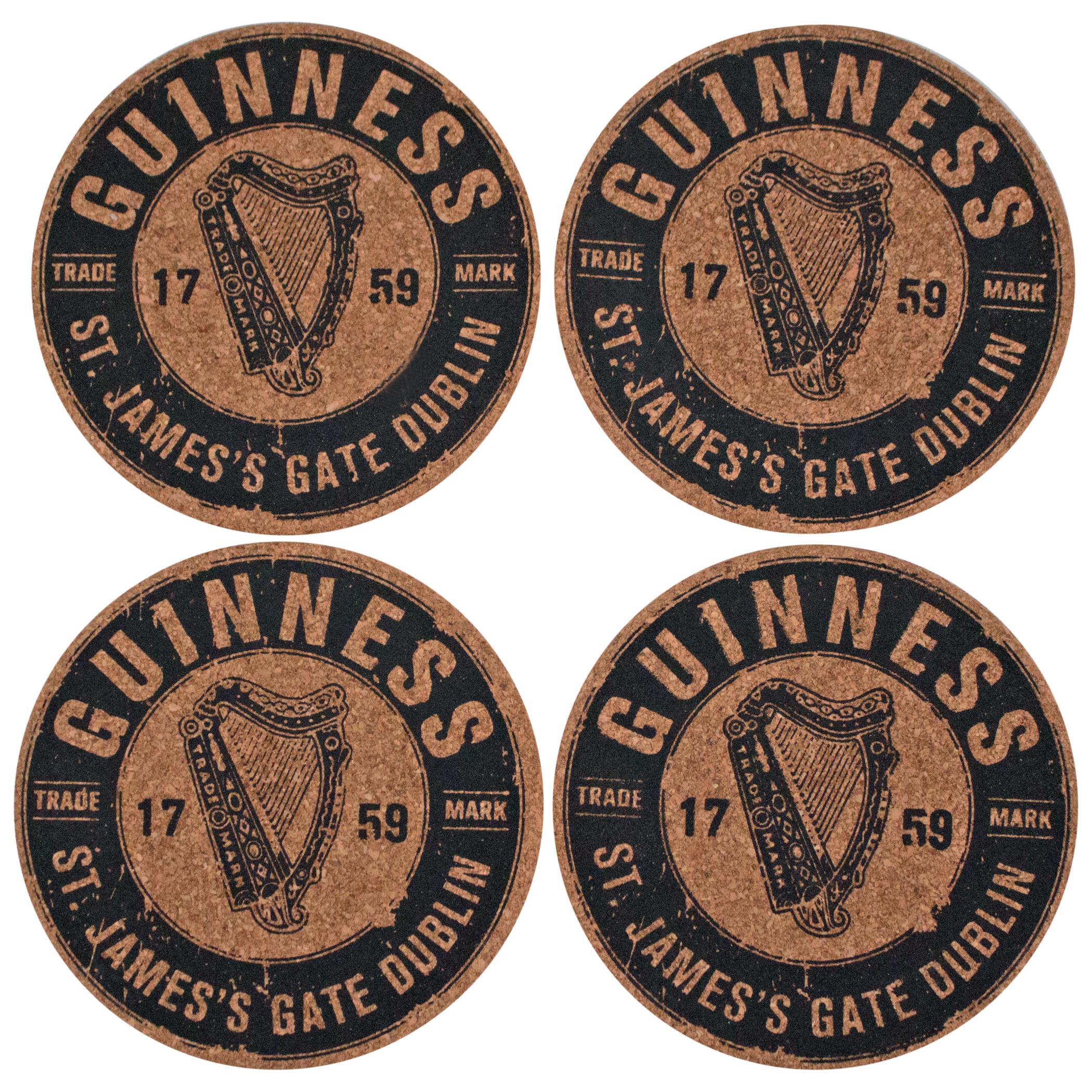 Guinness 4 Cork Coaster Set