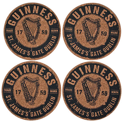 Guinness Cork Coaster Set