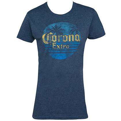 Corona Extra Sunset Logo Blue Women's Tee Shirt