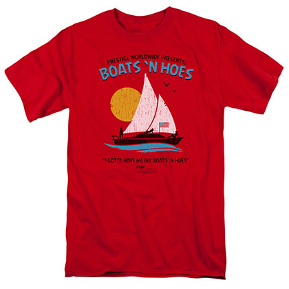 Step Brothers Boats and Hoes Prestige Worldwide Red Tshirt