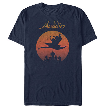 Aladdin Magic Carpet Navy Blue Tee Shirt