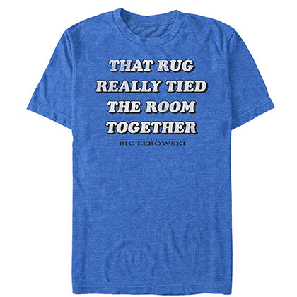 Big Lebowski Men's Blue Rug Tied The Room Together T-Shirt