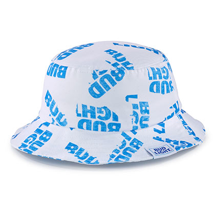 Bud Light White Bucket Hat