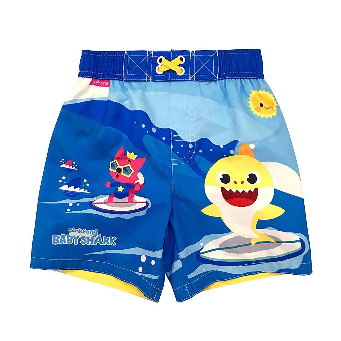 ee81ae9147 Baby Shark Toddler Swim Trunks