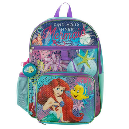 Little Mermaid Backpack 5-Piece Set