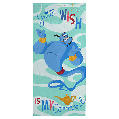 Aladdin Your Wish Genie Beach Towel